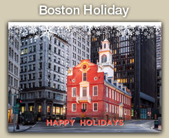 Boston Christmas and Holiday Cards