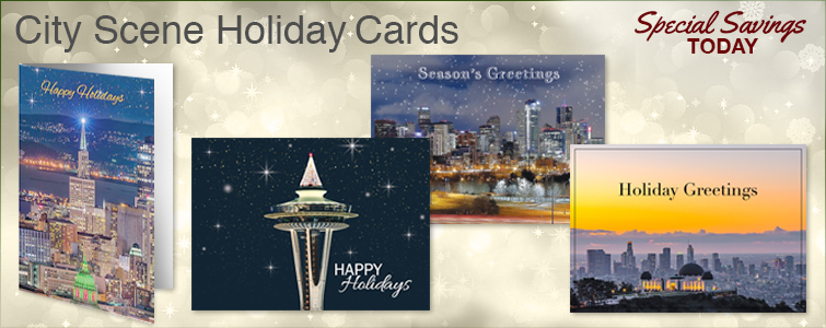 City Scenes Holiday Cards