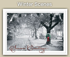 Winter Scenes Christmas and Holiday Cards