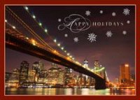 Brooklyn Bridge Lights Holiday Card