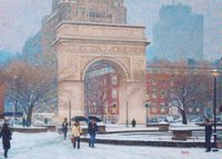 Washington Square, New York City Holiday Card