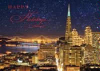 Starlit San Francisco Business Holiday Card