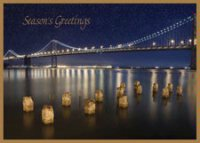Bay Bridge Illuminated Holiday Card