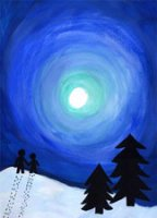 Night Sky (FA1426) Charity Holiday Card