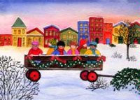 Wagon of Friends (FTC1423) Charity Christmas Card