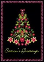 Poinsettia Tree (BCF1322) Charity Christmas Card
