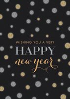 Silver and Gold Style and Glitz New Year Card