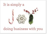 Simply a Joy Business Thank You Holiday Card