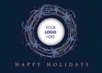 Blue Starry Wreath Business Logo Card