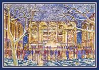 New York Lincoln Center Glow business holiday cards