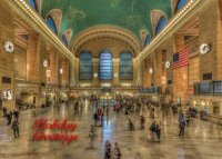 New York City Corporate Holiday Greeting card of Grand Central Station during the holiday season.