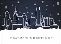Philadelphia Skyline  Holiday Card