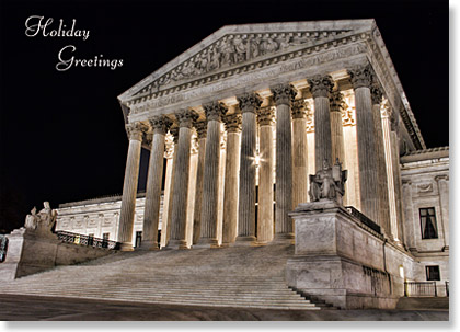 The Supreme Court Washington Holiday Card+V172:V178