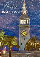 Ferry Building Reflection Holiday Card