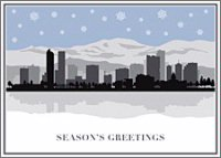Denver Skyline Holiday Card