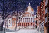Boston Capitol Glow Business Holiday Card