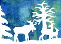 Moose and Friends Environmental Defense Fund Charity Holiday Card