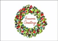 Berry Berry Wreath Cancer Research Charity Holiday Card