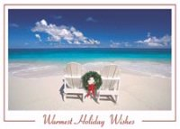 Adirondack Chairs Tropical Beachy Holiday Card
