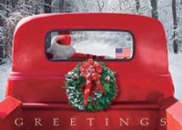 4 Wheeled Sleigh Holiday Card