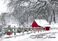 Cozy in the Country  Winter Scene Christmas Card
