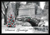 New York City Snow Day Holiday Card