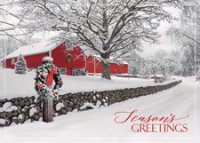 Rustic Ranch Holiday Greeting Card