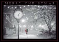 Midnight Walk Christmas Greeting Card
