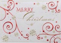 Embellished Christmas Holiday Greeting Card