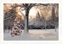 Morning Celebration Christmas Greeting Card