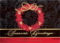 Berry Elegance Holiday Greeting Card