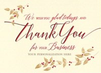 True Tidings Business Thank You Greeting Card