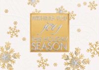 Golden Glitz Joy Holiday Greeting Card
