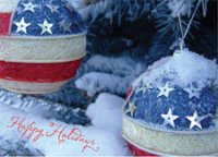 Patriotic Ornaments Christmas Card