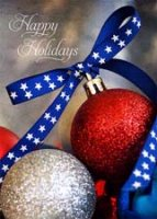 Patriotic Pride Holiday Ornament Card