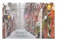 Beacon Hill Snowstorm Christmas Card