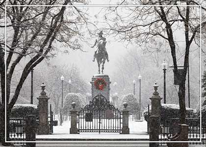 George Washington Snowfall Christmas Card