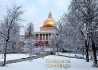 Massachusetts State House Holiday Card