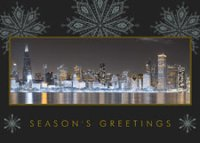 Chicago Business Holiday Evening Greeting Card