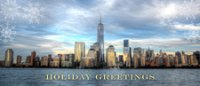 Manhattan Business Panorama Holiday Card