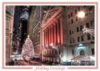 Wall Street Corporte Holiday Card