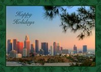 Blue Sky Los Angeles Holiday Card