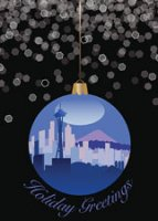 Seattle Ornament Christmas Card