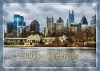 Atlanta Midtown Skyline Holiday Card