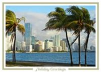 Tropical Miami Holiday Card