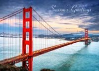 Golden Gate Bridge Skyline Holiday Card