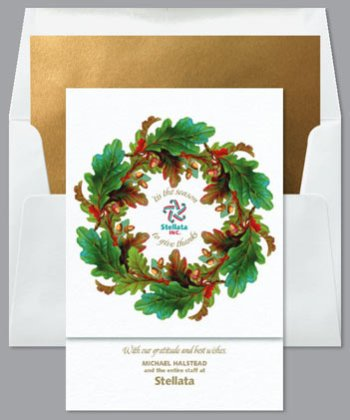 AUTUMNAL WREATH Business Holiday Card