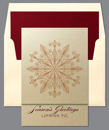 GLIMMER Snowflake Holiday Card