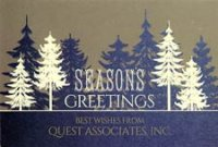 GOLDEN FOREST Holiday Card