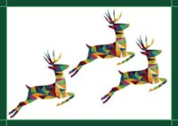 Triple Stag chairty holiday card supporting Free the Children
